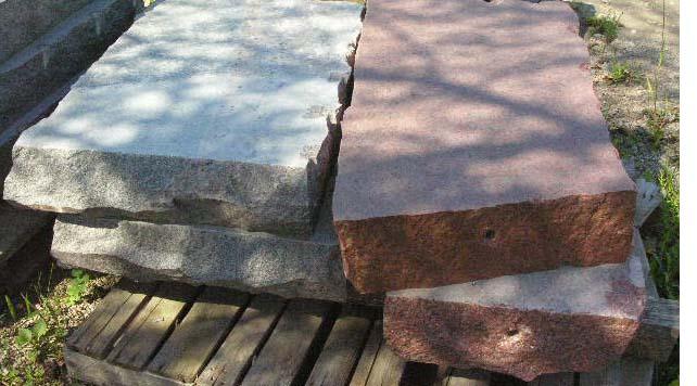 Granite Steps Patio Stone Wall Stone