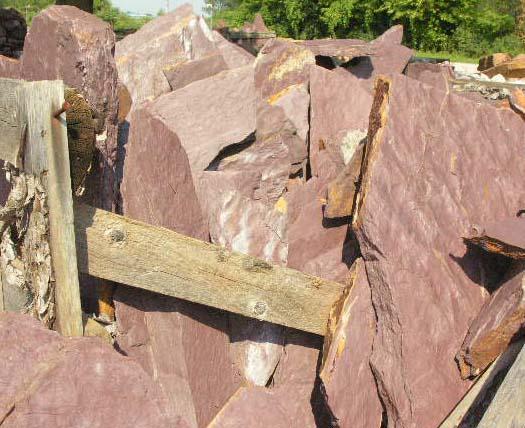 Purple Flagstone Patio Stone Wall Stone